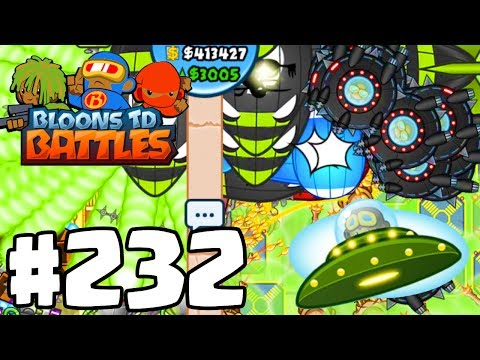 NEW UFO TOWER! | I Hate This Cheating Hacker Lying Noob Guy! | Bloons TD Battles Part 232