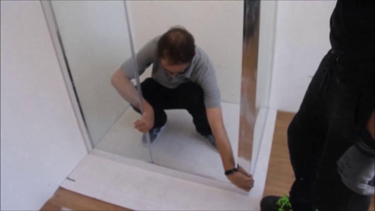 Come Si Monta Una Cabina Doccia.Guida Montaggio Box Doccia Scorrevole Youtube