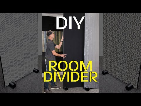 Easy DIY Room Divider Partition Wall for Privacy
