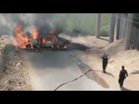 فضيحة المطافي في #مصر تفشل في اطفاء سيارة بسرعة ّّ