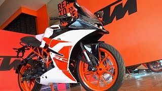 KTM RC 200 2017 First Look Walkaround Review, Exhaust Note, What's New