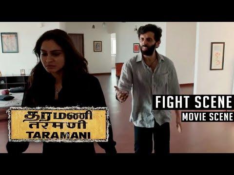Taramani - Fight Scene   Andrea Jeremiah   Vasanth Ravi   Yuvan Shankar Raja