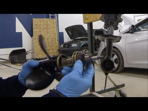 HOW TO take apart a lower unit on an outboard motor, how it works  YouTube