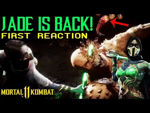 Mortal Kombat 11. Jade Reveal Reaction + Gameplay + Fatality. I'M SO HYPED! Comparison to MK9 Jade.
