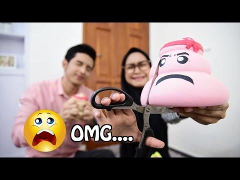 SQUISHY DARES! OMG.... I CUT MY POOP :( - Ria Ricis