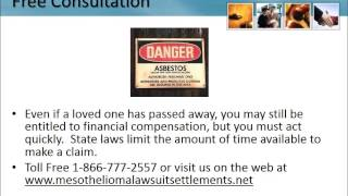 Mesothelioma Lawyer Clearwater Florida 1-866-777-2557 Asbestos Lung Cancer Lawsuit FL
