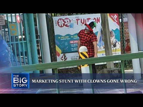 Clowns spotted outside schools in marketing campaign; enrichment centre apologises | THE BIG STORY