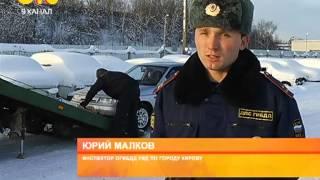 Как в Гродно эвакуируют машину на штрафстоянку.