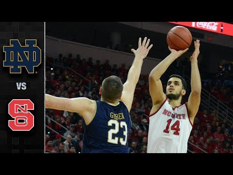 Notre Dame vs. NC State Basketball Highlights (2017-18)