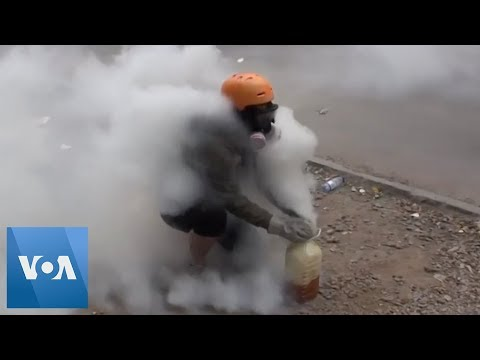 Chile Police Clash With Protesters In Santiago