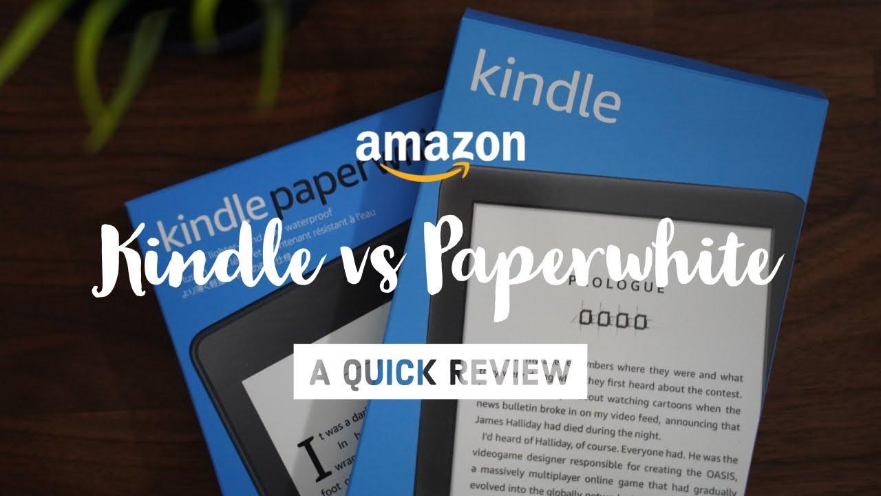 Amazon Kindle vs Kindle Paperwhite (2019)