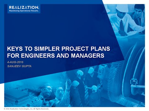 Keys to Simpler Project Plans - for Engineers and Managers