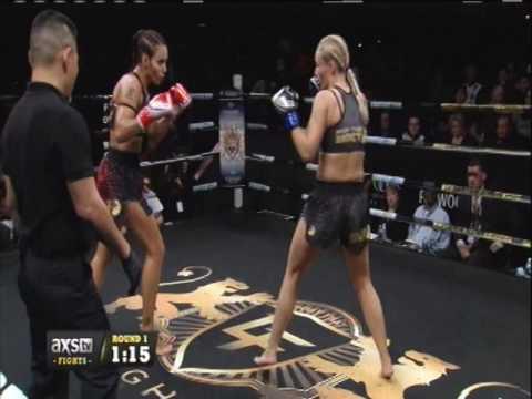 Antonina Shevchenko VS Ilona Wijmans. Lion Fight 33. HD Video.