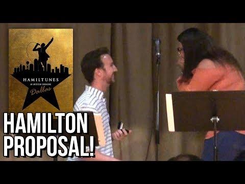Marriage Proposal at Hamiltunes Dallas! - Hamilton Karaoke!