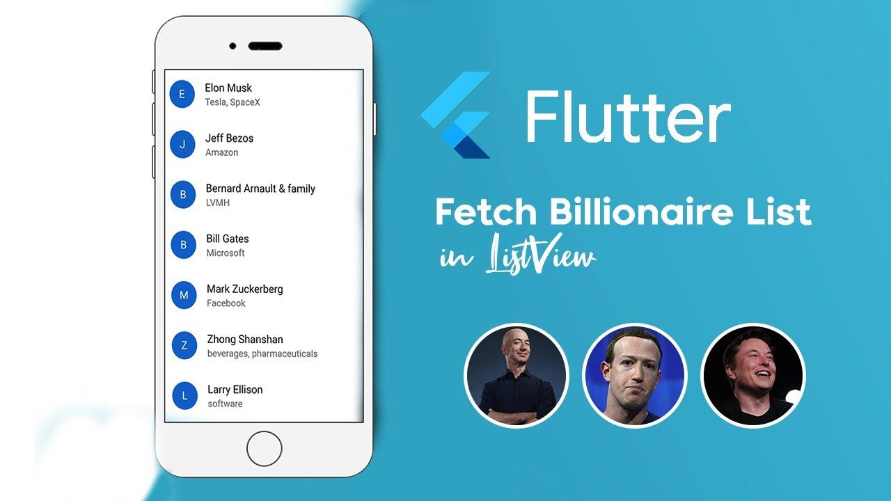 Fetch World's Billionaire In Flutter   Flutter API For Beginners  (LISTVIEW FLUTTER)