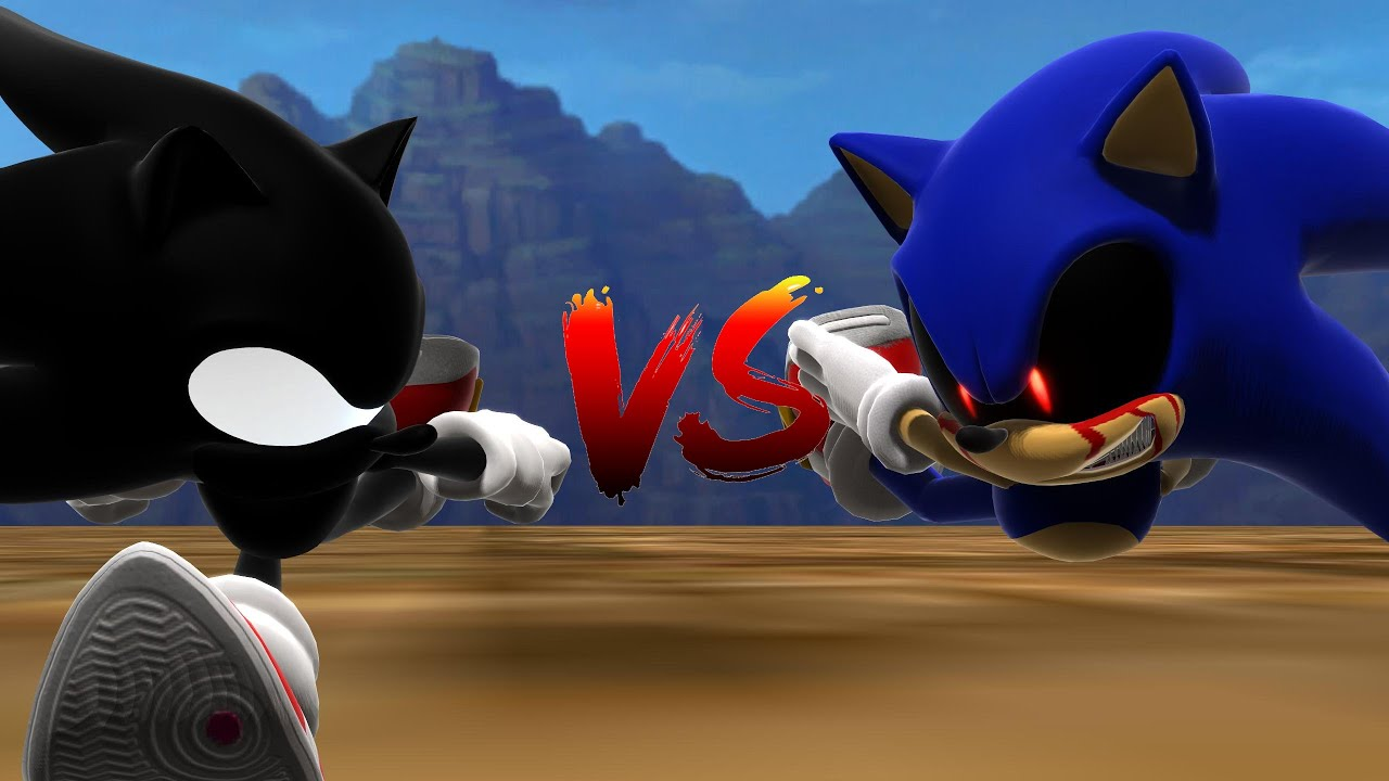 Dark Super Sonic V.S. Sonic.EXE - The Race [Animation] ソニック v. ソニック