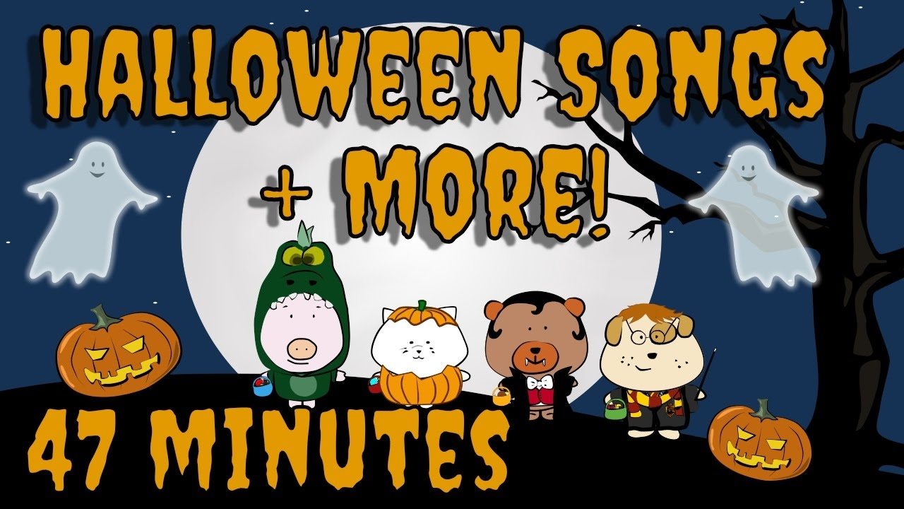 Halloween Songs Plus More Kids Song Compilation The Singing Walrus Youtube
