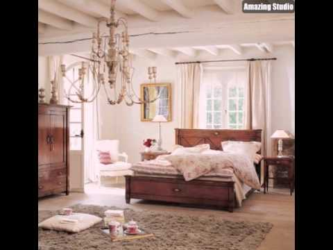 Country Living Shabby Chic Schlafzimmer - YouTube
