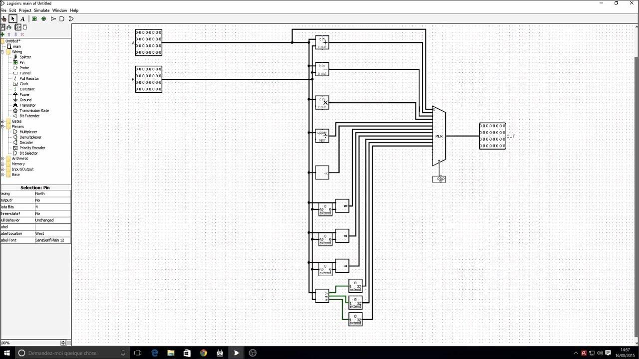 Logisim Architecture Des Processeurs L Alu