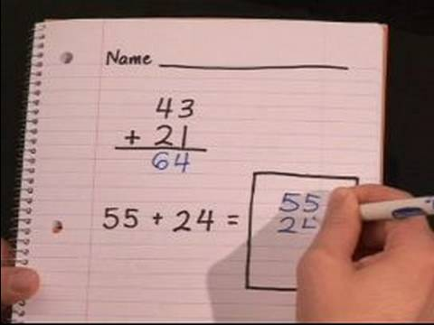 First Grade Math Lessons : Two Digit Addition for First Grade Math