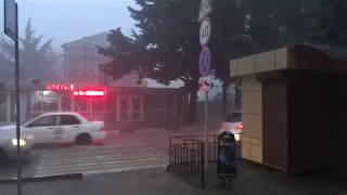 Дождь, град, гром и молнии - бывает осенью и так! Лазаревское, Сочи 24 октября 2018