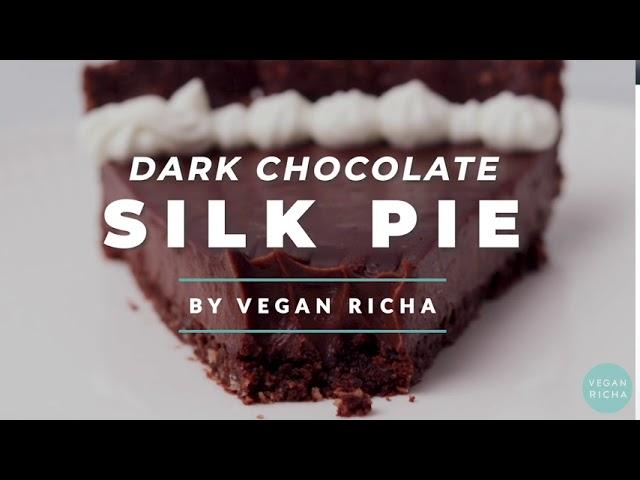 DARK CHOCOLATE SILK PIE WITH CHOCOLATE ALMOND CRUST GF | Vegan Richa Recipes by Richa Hingle