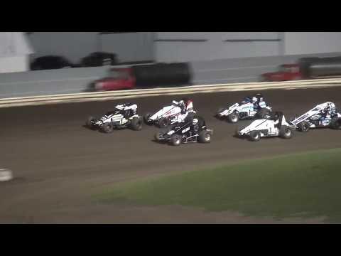 Iowa Sprint Car League Heat 2 Pepsi Lee County Speedway 9/14/19