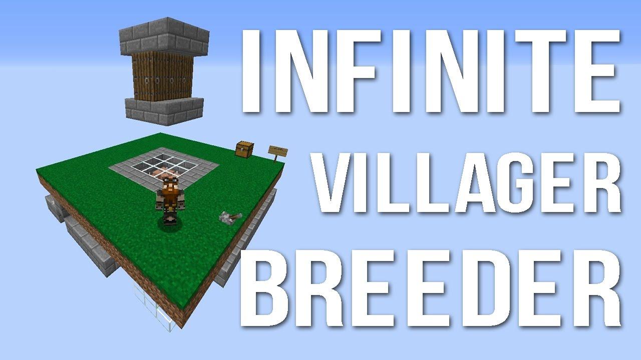 Minecraft villager farm infinite villager breeder youtube sciox Images