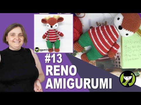 RENO NAVIDEÑO AMIGUMI 13 cosas para navidad a crochet