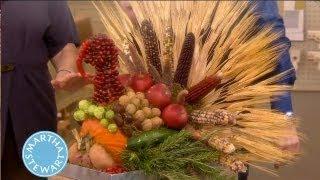 Turkey Centerpiece Using Seasonal Produce   Martha Stewart