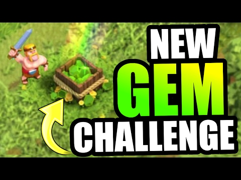 INSANE GEM CHALLENGE!! (A MUST SEE!) - Clash Of Clans