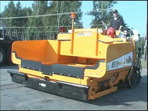 LeeBoy 8515 CONVEYOR PAVER OPERATIONS & MAINTENANCE