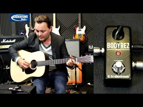 TC Body Rez Pedal - How to make an Acoustic Guitar pickup sound better!
