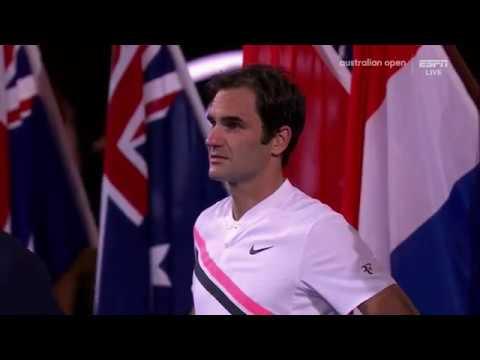 Australian Open 2018 Federer match point box reaction