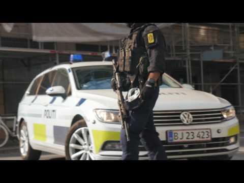 Politi skyder mand efter at have åbnet ild mod betjente i København (råmateriale 1/3)