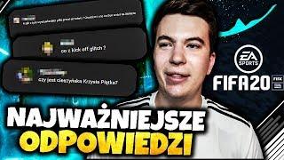 Grałem w FIFA 20 i ODPOWIADAM na WASZE PYTANIA!!!
