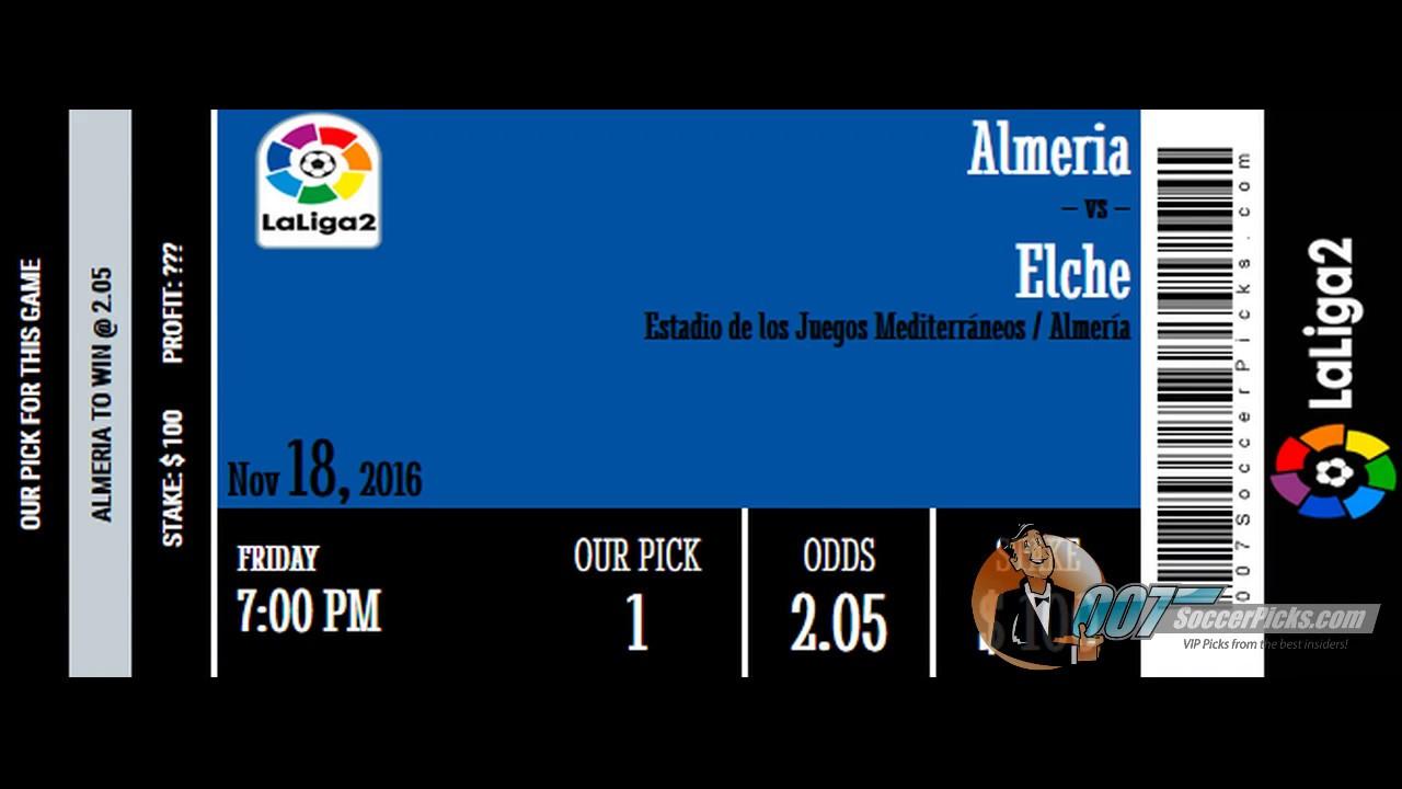 Almeria Vs Elche PREDICTION By 007Soccerpicks Com YouTube