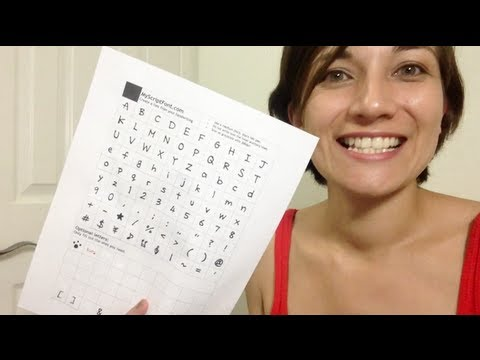 Make your own font ~ with Kat McDowell