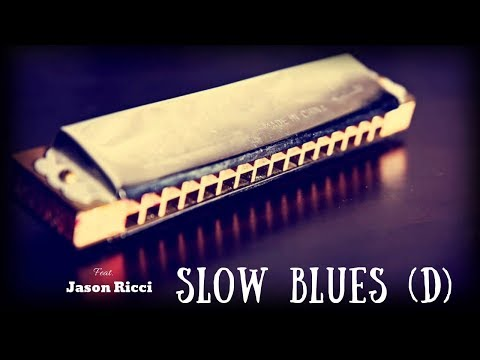 Slow Blues Jam | Sexy Guitar Backing Track (D)