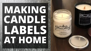 DIY design easy candle labels online and print at home