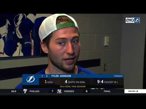 Tyler Johnson -- Tampa Bay Lightning vs New York Rangers 03/08/18