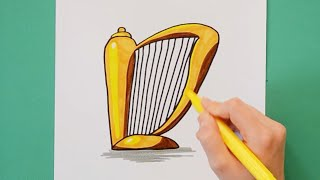 How to draw and color St. Patrick