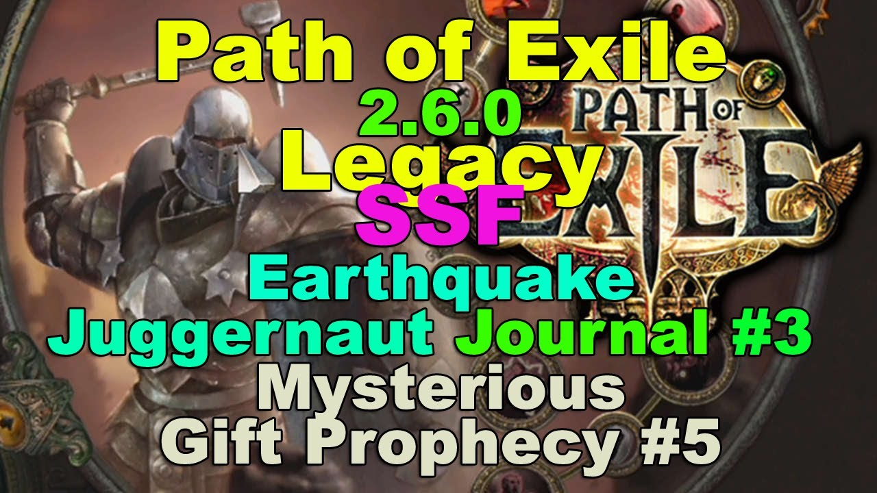Mysterious Gift Prophecy #5! (Path of Exile 2.6.0: SSF EARTHQUAKE ...
