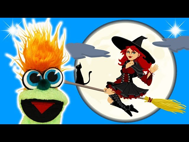 SILLY FLYING WITCH JOKE! - JOKES FOR KIDS! Halloween! LOL 100% Child-Appropriate FUNNY! Sock Puppet!