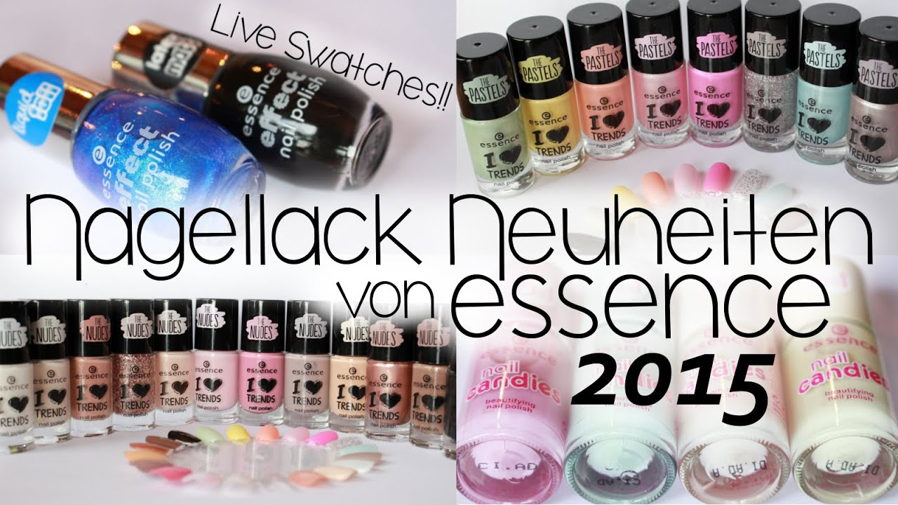essence nagellack neuheiten 2015 swatches youtube. Black Bedroom Furniture Sets. Home Design Ideas