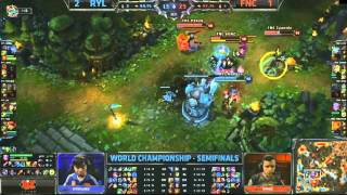 (HD491) LCS World Final - FNC vs RYL - Game 4 - 1/2 Finale