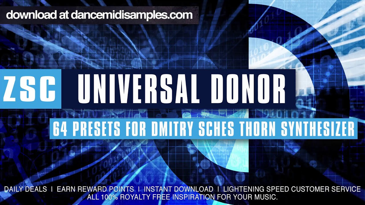 Dmitry Sches Thorn VST Presets -  'Universal Donor'