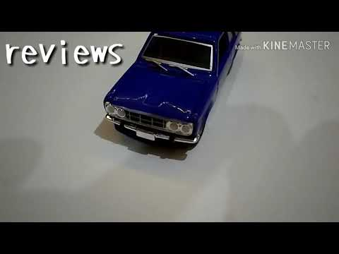DATSUN BLUE BIRD 510 diecast green light Silent REVIEW