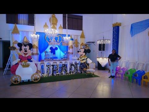 Decoración De Lujo De Mickey Rey Con Cristales Youtube