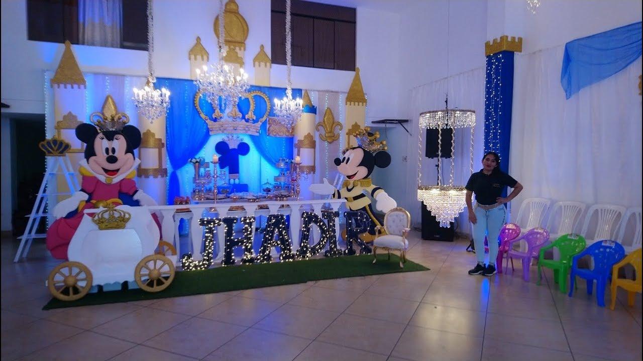 Decoración De Lujo De Mickey Rey Con Cristales